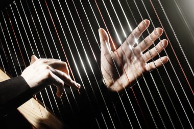 Harp Hands with Classical Music Instruments