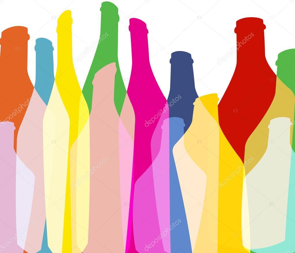 Illustrazione Verde Bottiglia Colore Di Sfondo Verde Bottiglie