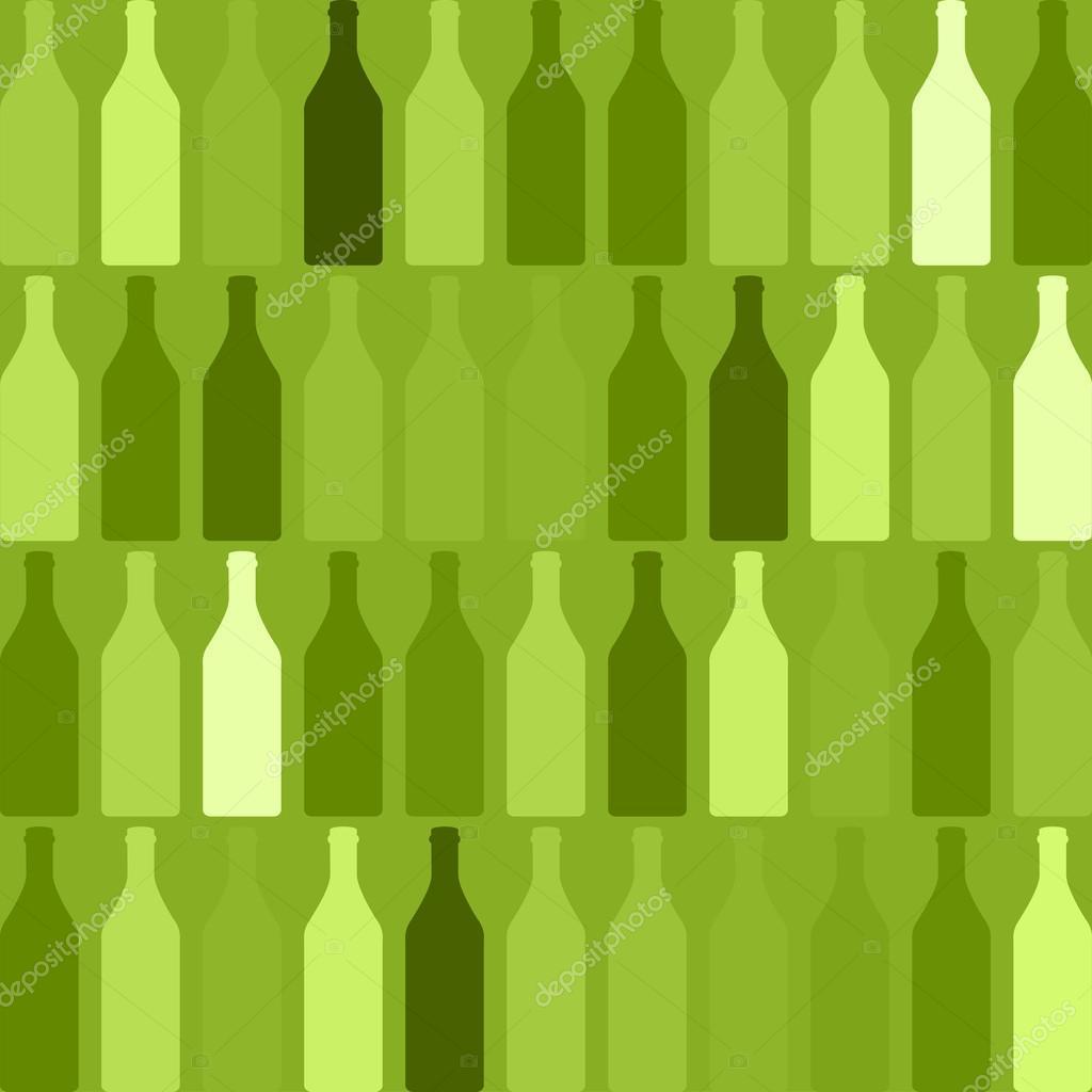 Sfondo Verde Bottiglia Sfondo Verde Bottiglie Vettoriali Stock