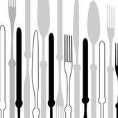 Étlap-val vektor evőeszközök