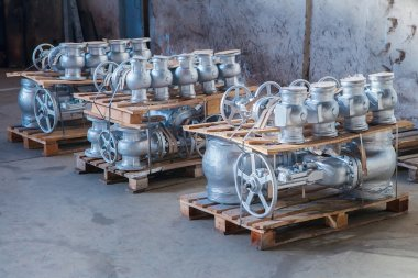 Industrial valves ready for dispatch