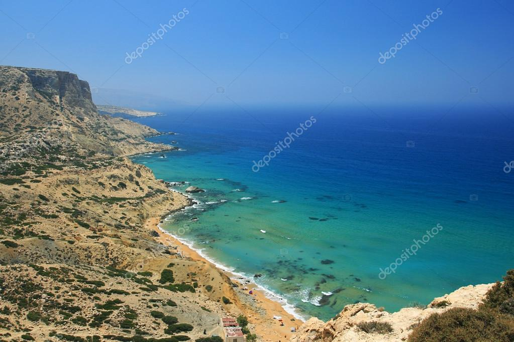 Red Beach in Matala, Crete, Greece