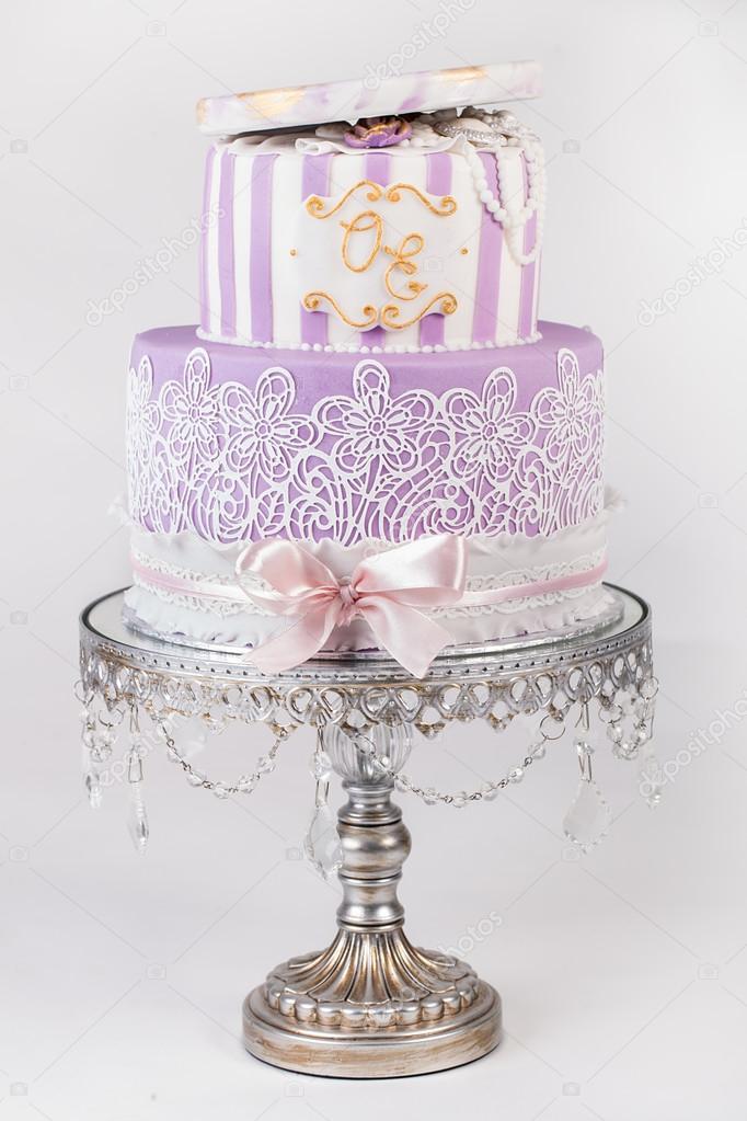 Super Delicious Luxury White Wedding Or Birthday Cake Stock Photo Funny Birthday Cards Online Necthendildamsfinfo