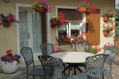 italian garden terrace