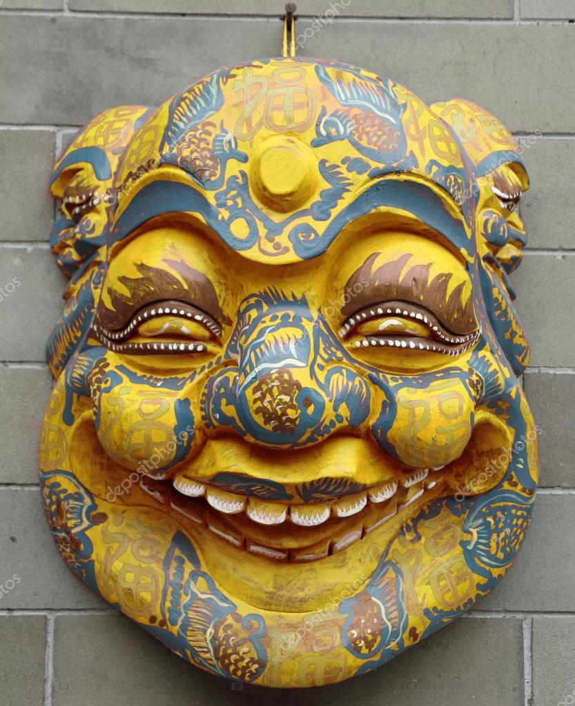 Chinese mask on wall — Stock Photo © Malgorzata_Kistryn #61296089