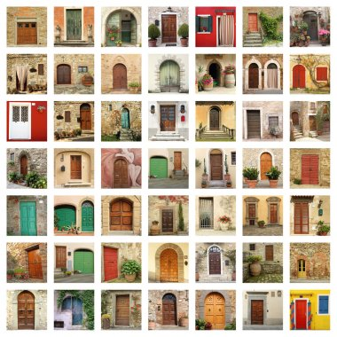 Old doors in Italy
