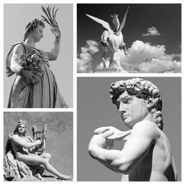 Group of mythological statues