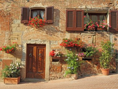 Beautiful doorway to tuscan house