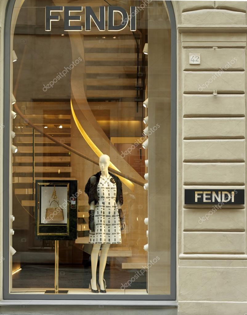 Shop window of FENDI boutique