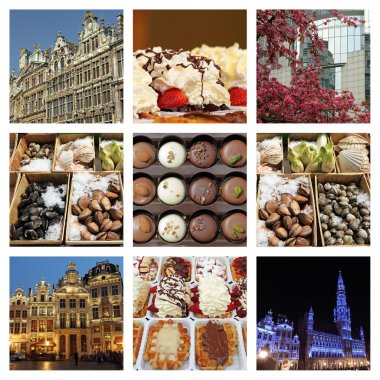 Brussels collage composition