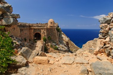 Venetian fortress at Gramvousa island, Crete, Greece