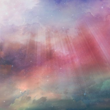 Colorful starry sky background