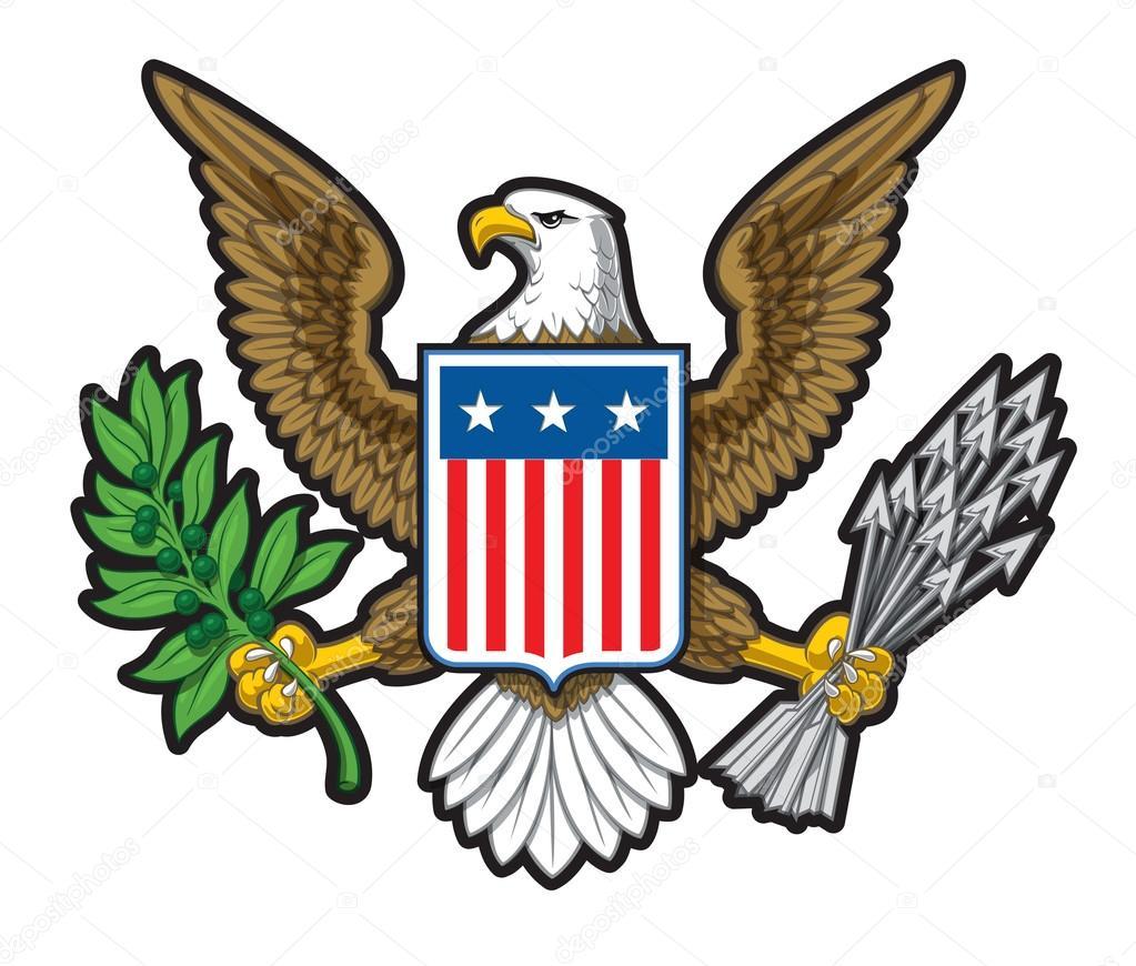 American Bald Eagle Usa Abzeichen Stockvektor Nazlisart 122072718