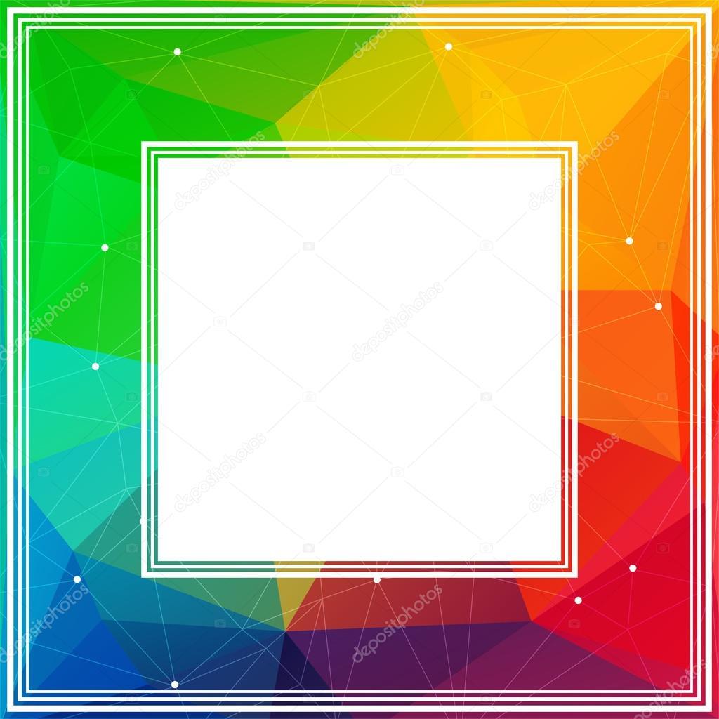 bright rainbow border stock vector tokhiti 108763552