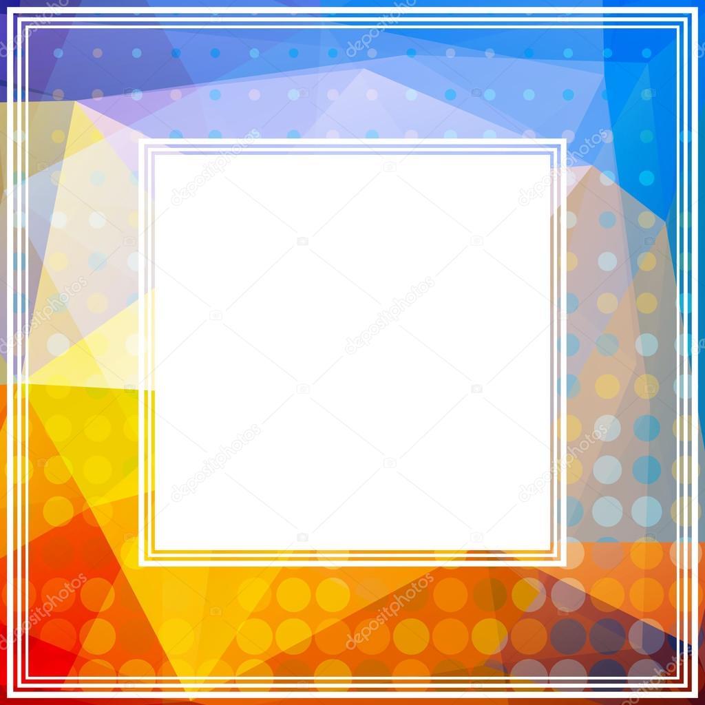 orange blue border stock vector