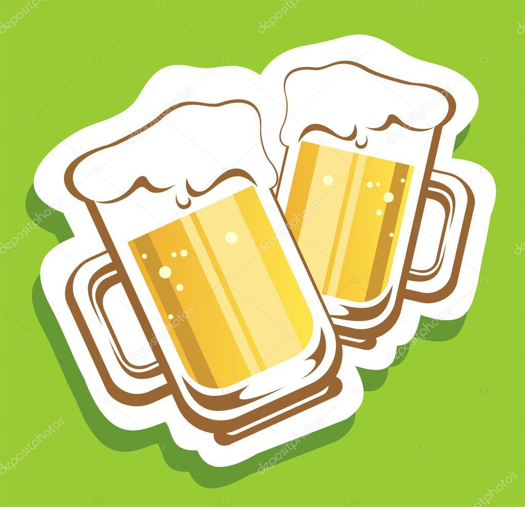 Preferenza due boccali di birra — Foto Stock © tokhiti #52574589 XV68
