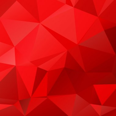 Abstract polygonal background with light and dark red triangles. stock vector