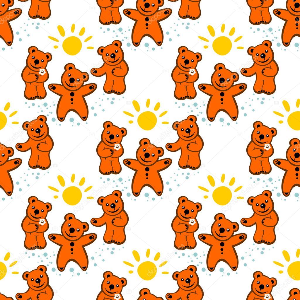 patrón sin costuras de osos — Archivo Imágenes Vectoriales © tokhiti ...