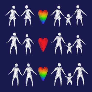 family symbols and hearts