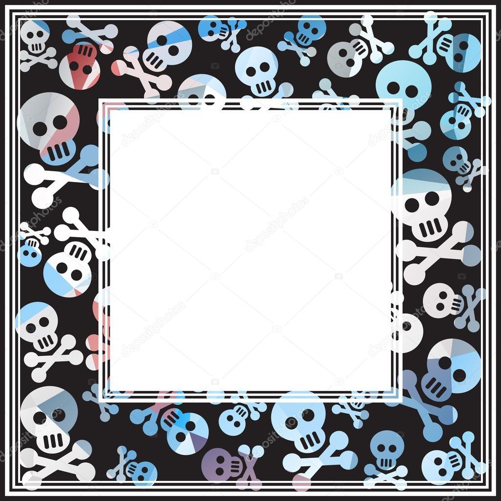skull and bones dark border stock vector tokhiti 86313092