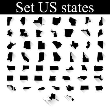 set of US states maps