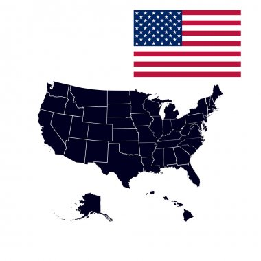 US states in the map of America