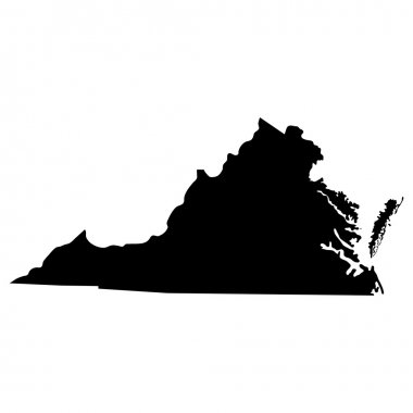 map of the U.S. state of Virginia