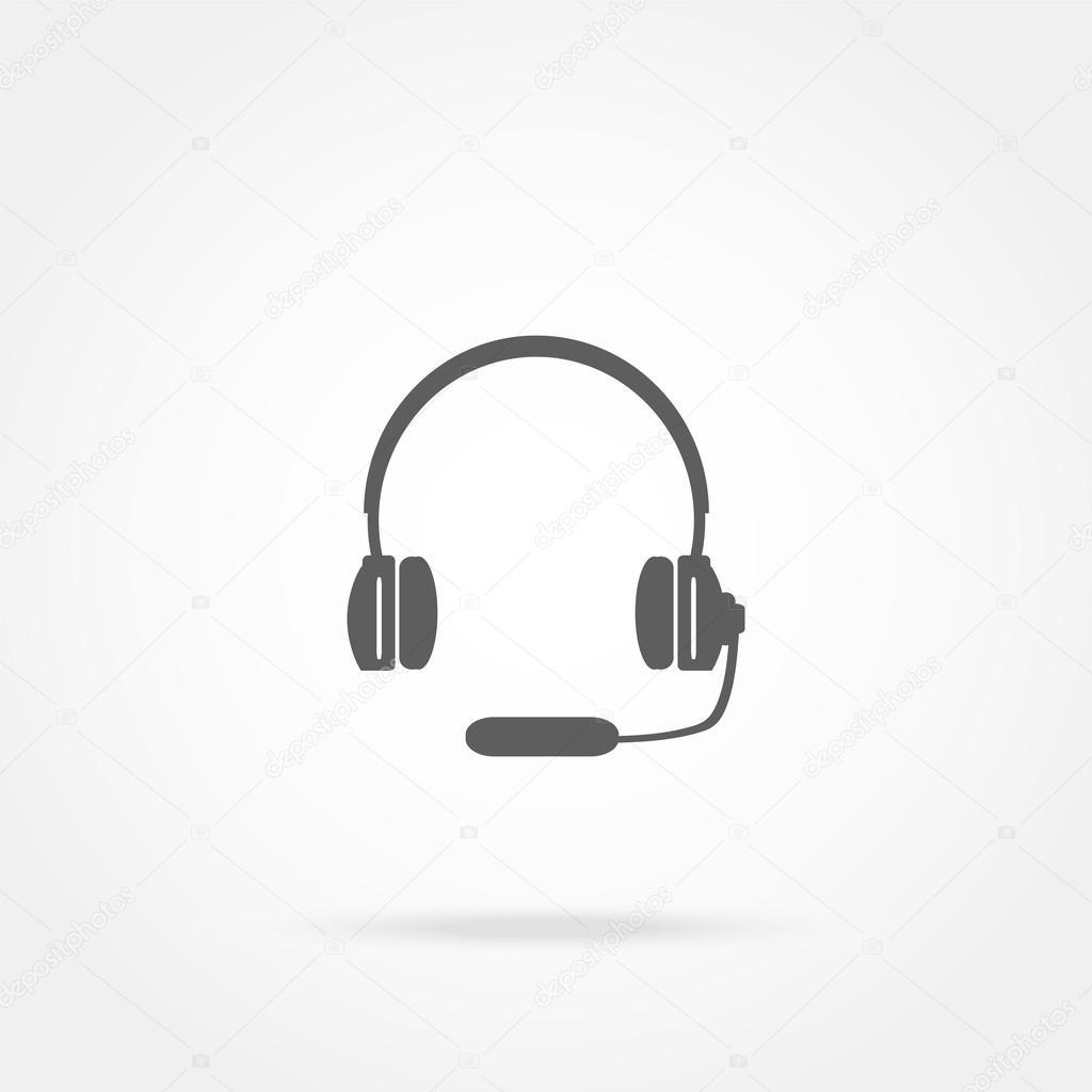 Навушники з мікрофоном гарнітура значок — Стоковий вектор — весело ... 1b1c7a9b9cdb3