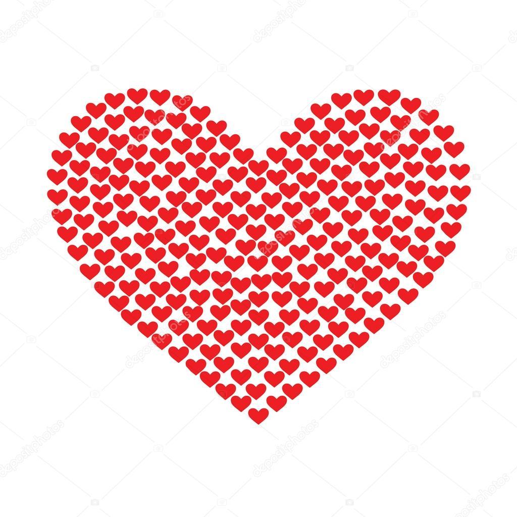 Dibujos Corazones Pequeños Corazón De Las Pequeñas Partículas De
