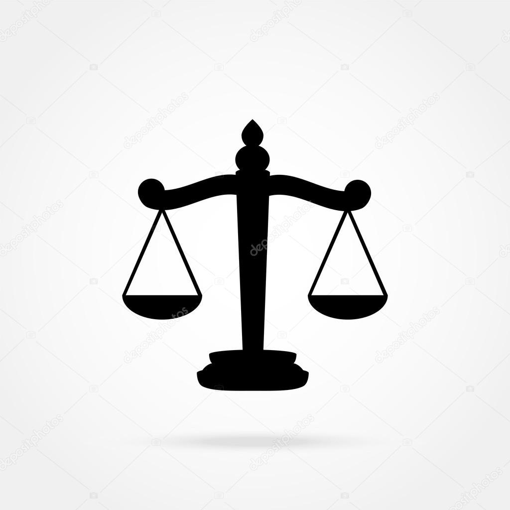 Bilancia Della Giustizia Icona Vettoriali Stock Pavlentii 88814396