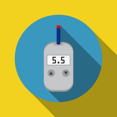 meter device for measuring and monitoring blood sugar levels