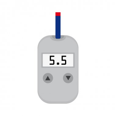 Meter device for measuring and monitoring blood sugar levels clip art vector