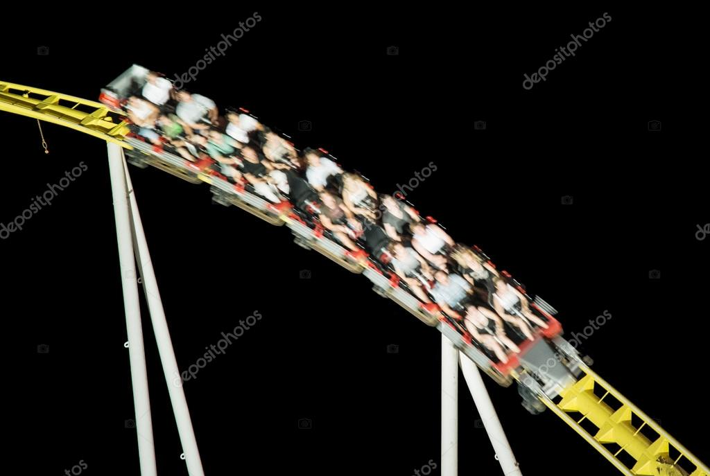Roller coaster ride in the night, free time activities