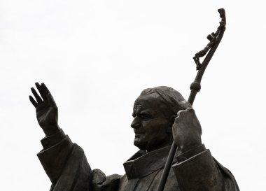 Statue of pope John Paul II in Nitra city