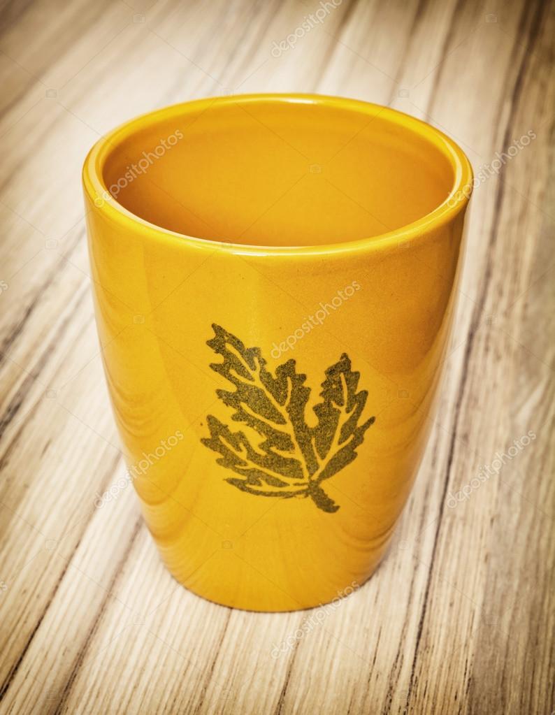 Ceramic Orange Empty Flower Pot Stock Photo Vrabelpeter1 96509742