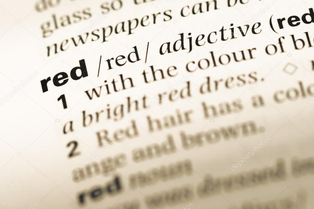 is the word red an adjective
