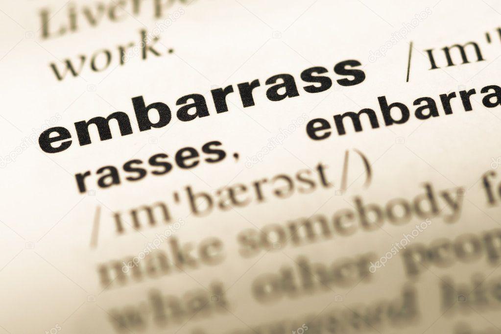 Cerca del viejo Inglés avergonzar a página de diccionario