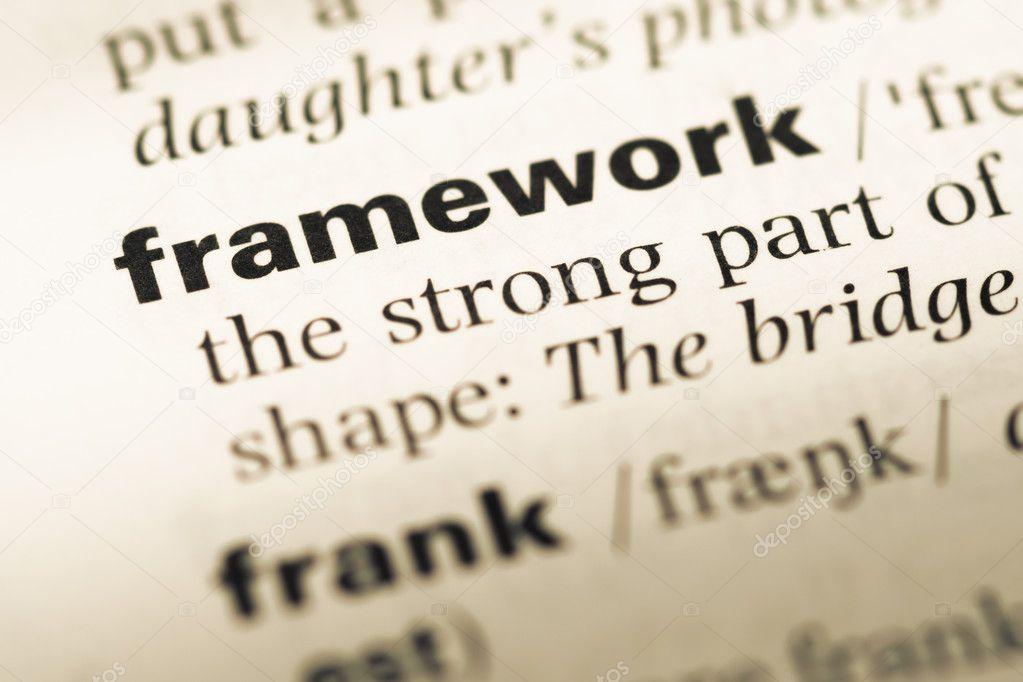 Cerca de la página de diccionario antiguo con marco de palabra ...
