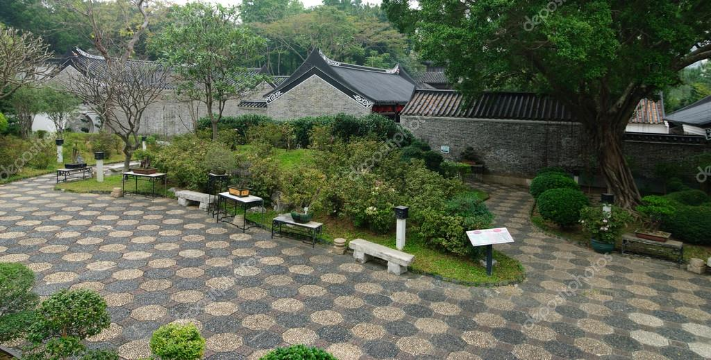 Traditional Chinese Garden In Hong Kong Stock Photo