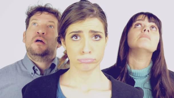 Pojem stresu lidí izolovaných zpomalené retro vzhled