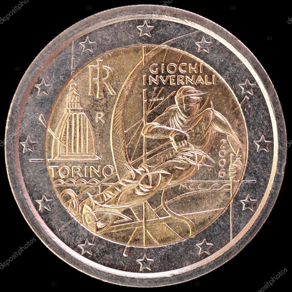 Gedenk Zwei Euro Münze Die Von Italien Im Jahr 2006 Zur Feier Der