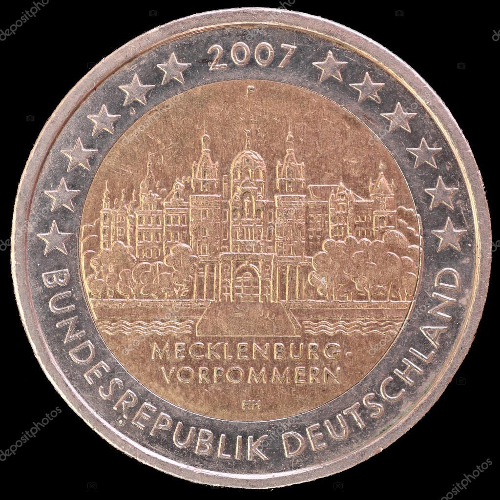 Gedenk Zwei Euro Münze Ausgegeben Von Deutschland 2007 Mit Dem
