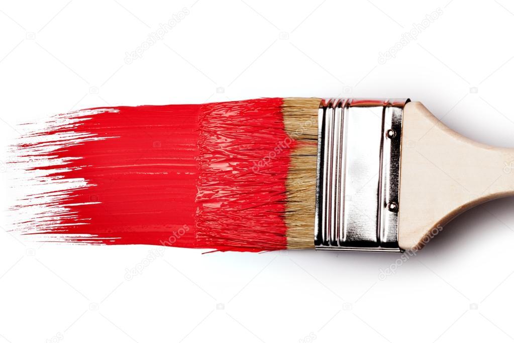 빨간 페인트 붓 — 스톡 사진 © gresey #59258629