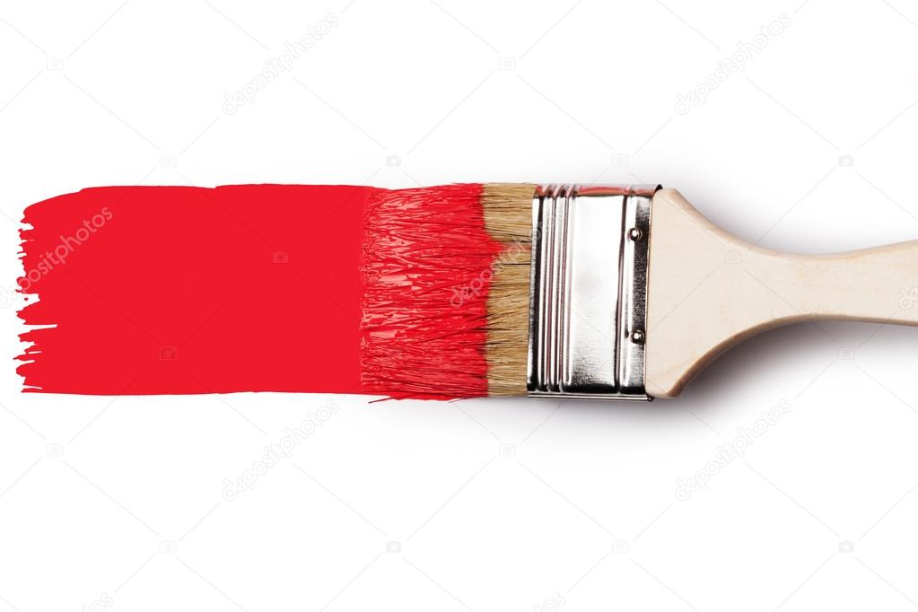 Paintbrush With Red Paint Stock Photo Gresey 62544479