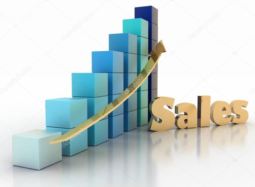 Sales Growth Chart Stock Photo 3ddock 52045365