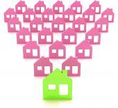 Photo 3d model house symbol set