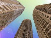 Fotografie skyscrapers.3D vykreslení