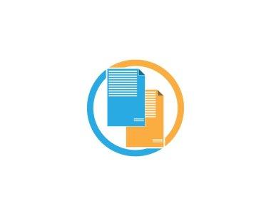Document icon logo template icon
