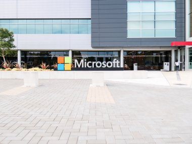 SILICON VALLEY, USA - SEPTEMBER 17: Microsoft building on Septem