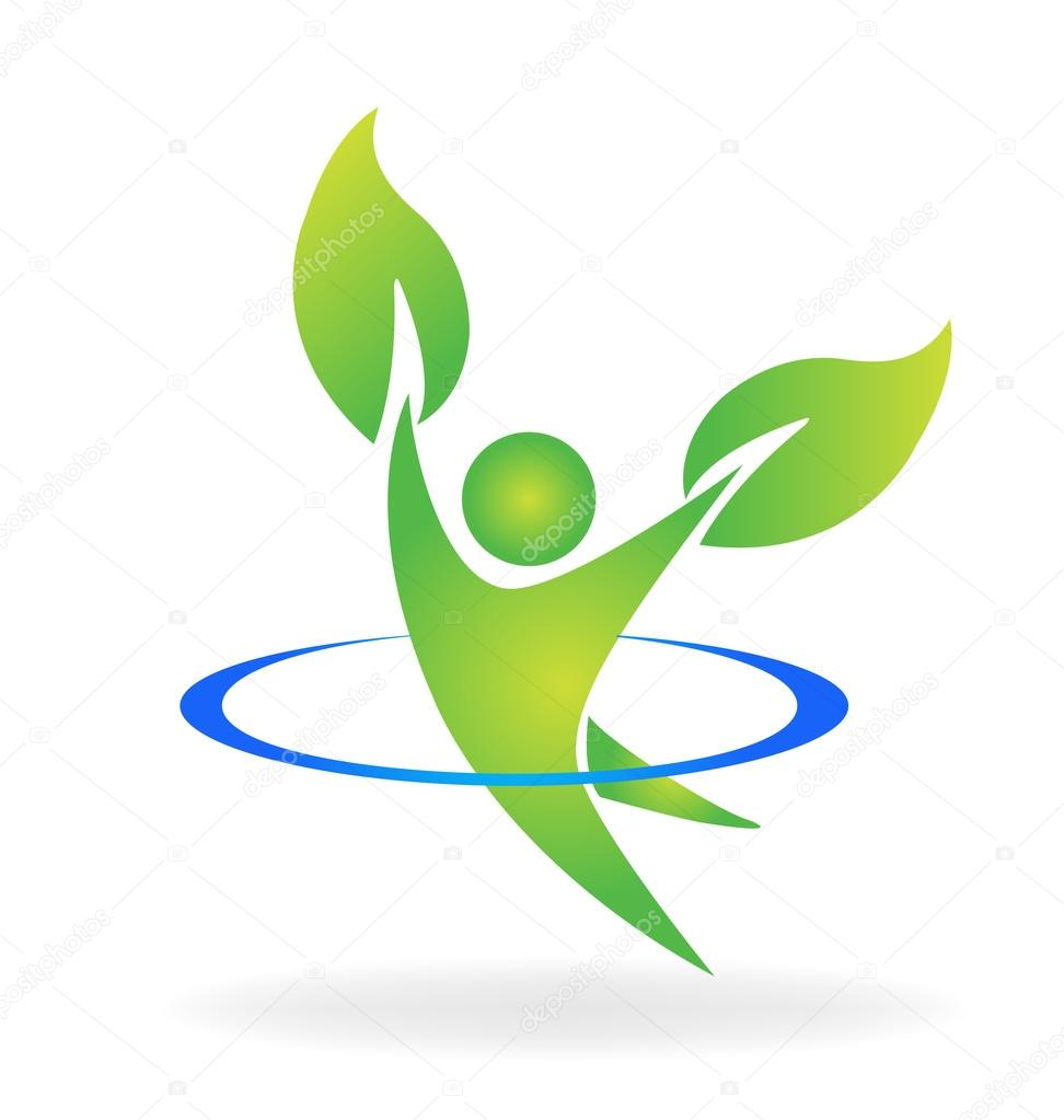 health nature logo vector � stock vector 169 glopphy 107260658